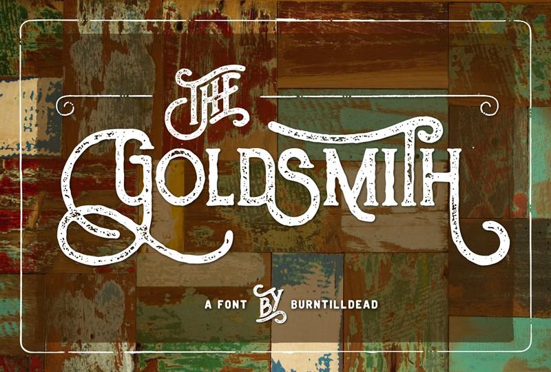 gratis lettertype - The Goldsmith