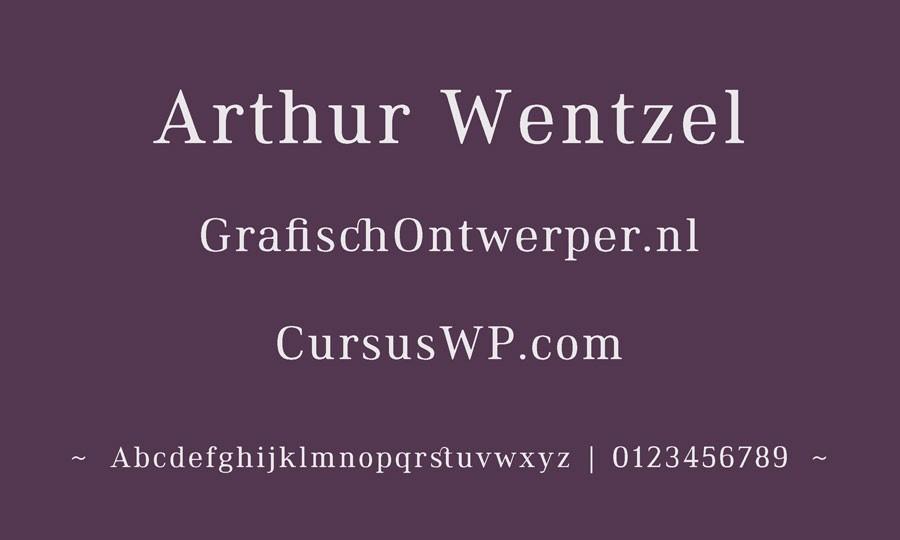gratis lettertype -  font