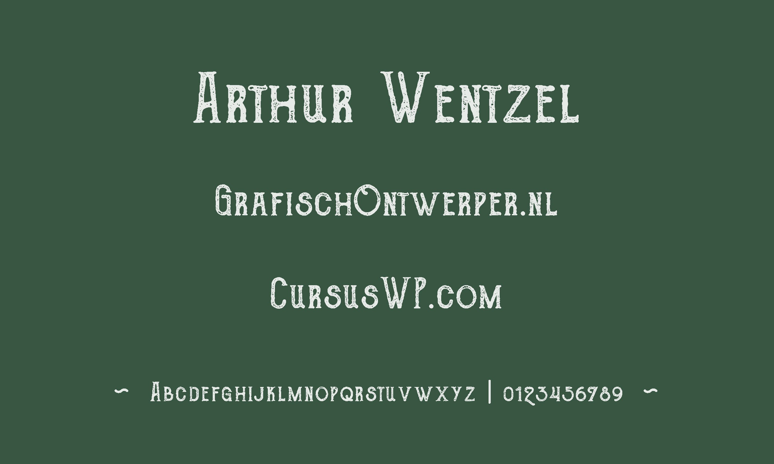 gratis lettertype - The Goldsmith font
