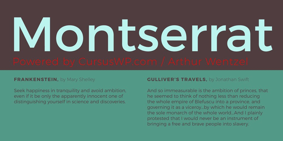 wordpress google font - Montserrat sans