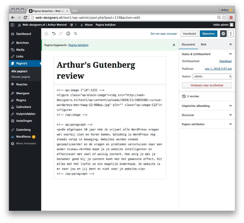 Gutenberg code html