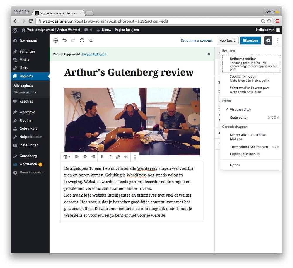 Gutenberg visueel