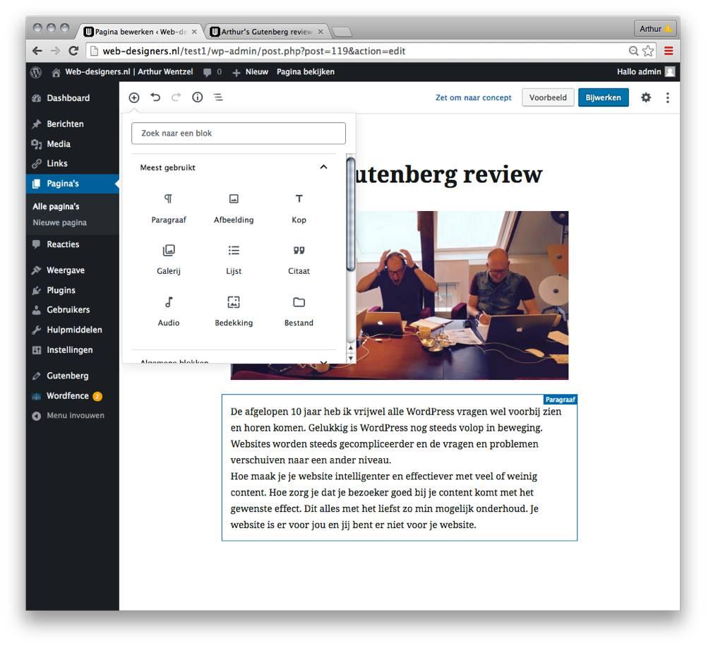 Gutenberg blokken