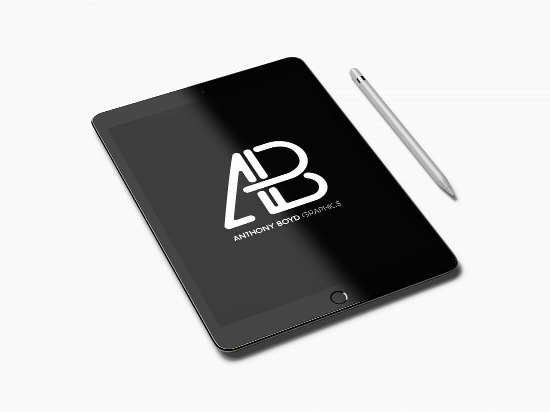 iPad Mock-up voorbeeld