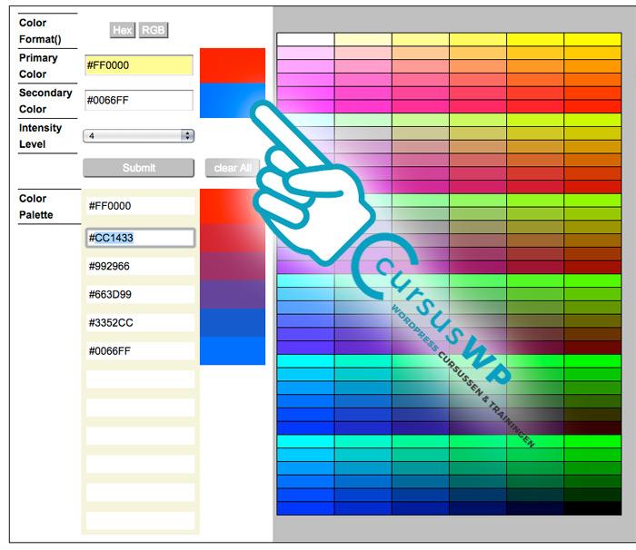 Beste kleurentools webdesign gereedschap kleur ontwerpers