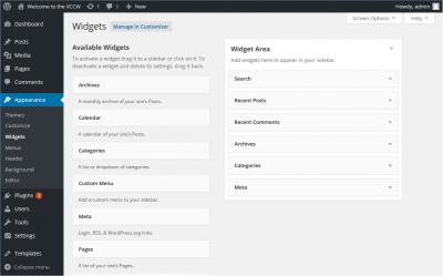 widgets instellen