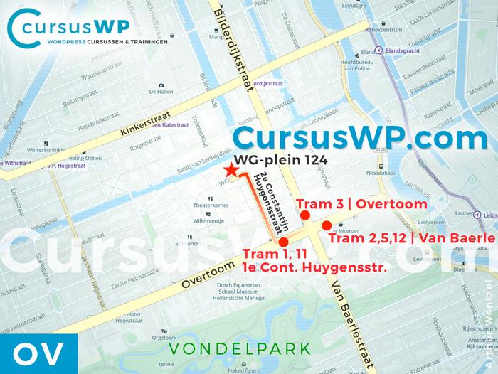 WordPress website maken cursus training workshop Amsterdam randstad openbaar vervoer