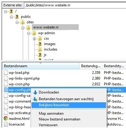 wp-config-php-bestand-bewerken-wordpress