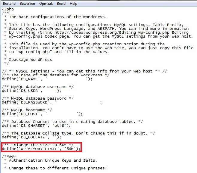 wp-memory-limit-aanpassen-verhogen